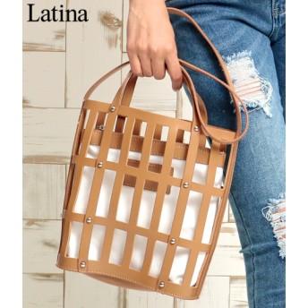 anap Latina アナップラティーナ ポーチ付フェイクレザーメッシュバッグ