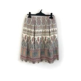 【中古】 ダックス DAKS スカート サイズ40 L レディース アイボリー レッド マルチ 花柄