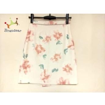 ジャスグリッティー JUSGLITTY スカート サイズ1 S レディース 美品 白×ピンク×グリーン 花柄 スペシャル特価 20190812