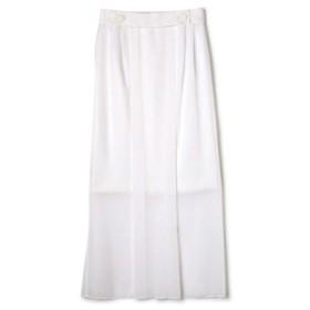 (ADORE/アドーア)トリアセシフォン2枚重ねスカート/レディース ホワイト 送料無料