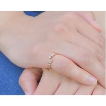 リング・指輪 - PARIS KID'S 指輪 ピンキーリング リング キュービック ジルコニア 巻き付き デザイン eft Luxury's ラグリーズ 上品 重ねづけ可愛いかわいい おしゃれ ギフト パリスキッズ 送料無料 j3s