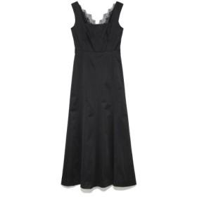 (Lily Brown/リリーブラウン)シンプル切り替えドレス/レディース BLK 送料無料
