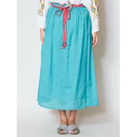 (CAYHANE/チャイハネ)【チャイハネ】yul 無地カラースカート/レディース ブルー