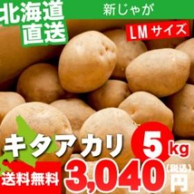 今季出荷開始! 新じゃがいも 送料無料 北海道産 じゃがいも キタアカリ 【Mサイズ】1箱 5キロ入 / 5kg 5キロ 5kg きたあかり 北あ