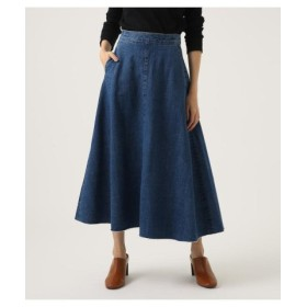 (AZUL BY MOUSSY/アズールバイマウジー)CUT OFF FLARE DENIM LONG SKIRT/レディース BLU