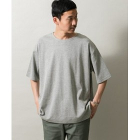(ITEMS URBANRESEARCH/アイテムズ アーバンリサーチ)ビッグ5分袖カットソー/メンズ GRY