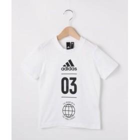 (HusHusH(kids)/ハッシュアッシュキッズ)【110-160cm】adidas バックメッシュTシャツ(一部店舗・WEB限定)/レディース ホワイト(001)