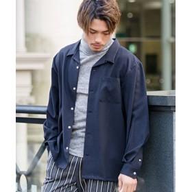 (SILVER BULLET/シルバーバレット)CavariA【キャバリア】日本製ビッグシルエットオープンカラー長袖シャツ/メンズ ネイビー 送料無料