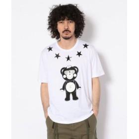 (RoyalFlash/ロイヤルフラッシュ)TANTA/タンタ/ALL STAR クリスタルチャッピー Tシャツ/メンズ WHITE