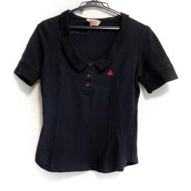 【中古】 ヴィヴィアンウエストウッドレッドレーベル チョイス 半袖ポロシャツ サイズ2 M レディース 黒