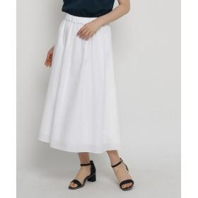 SunaUna / スーナウーナ 【洗える】タックフレアロングスカート