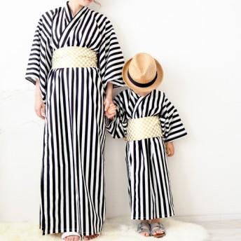 【Mama】2ステップ浴衣(モノクロ)