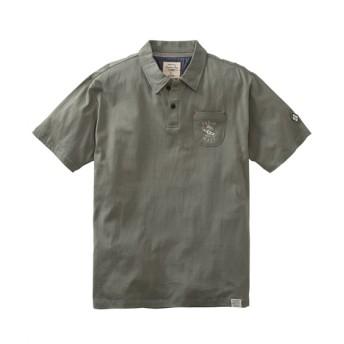 サーフ刺しゅう入りポケット付き半袖ポロシャツ ポロシャツ