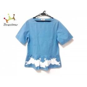 モスキーノ チープ&シック チュニック レディース 美品 ライトブルー×アイボリー 花柄   スペシャル特価 20190805