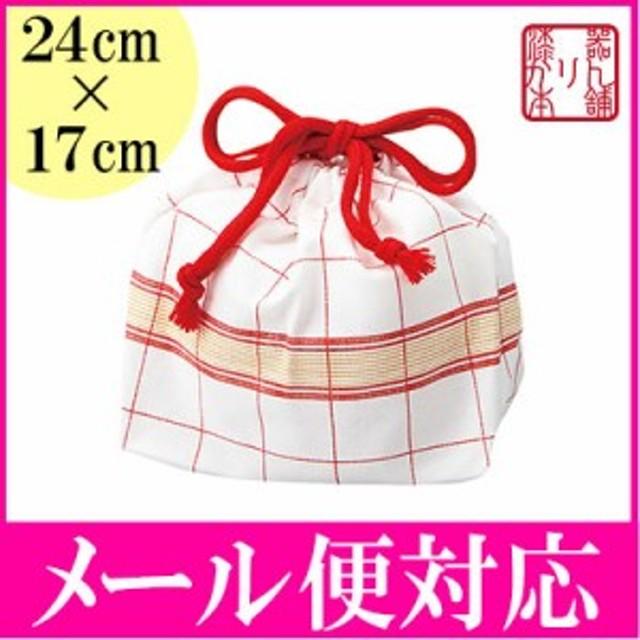 ランチ巾着袋 チェック 日本製
