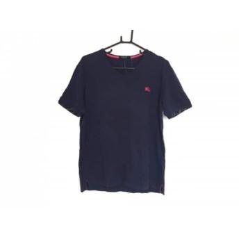 【中古】 バーバリーブラックレーベル 半袖Tシャツ サイズ3 L メンズ ダークネイビー ピンク