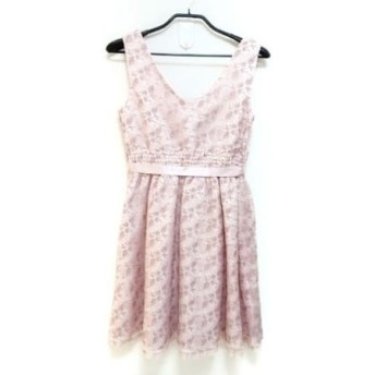【中古】 レストローズ L'EST ROSE ワンピース サイズ2 M レディース ピンク 花柄/刺繍