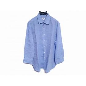 【中古】 ダンヒル dunhill/ALFREDDUNHILL 長袖シャツ サイズXL メンズ ライトブルー