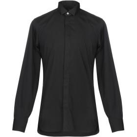 《期間限定セール開催中!》ZZEGNA メンズ シャツ ブラック 38 コットン 75% / ナイロン 21% / ポリウレタン 4%