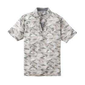 カノコ迷彩プリントスキッパー半袖ポロシャツ ポロシャツ