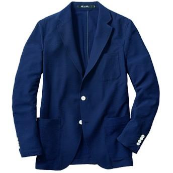 45%OFF【メンズ】 ドライ・ストレッチ・サッカー素材テーラードジャケット シワを気にせず使えるのが◎ - セシール ■カラー:ネイビー系 ■サイズ:3L,L