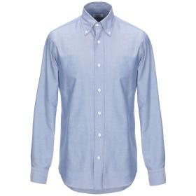 《期間限定セール開催中!》SALVATORE PICCOLO メンズ シャツ ブルー 41 コットン 100%