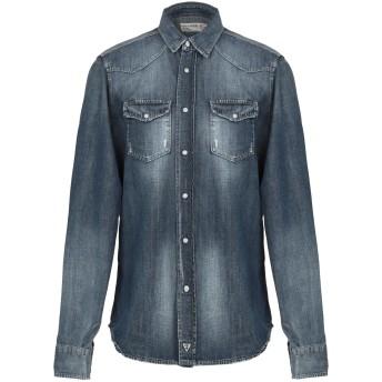 《期間限定 セール開催中》FIFTY FOUR メンズ デニムシャツ ブルー S コットン 100%