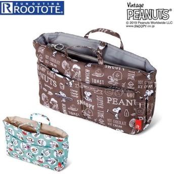 Rootote ルートート トートバッグ 通販 サイドポケット ROO CARRIAGE ルーキャリッジ PEANUTS ピーナッツ SNOOPY スヌーピー バッグインバッグ サブバッグ