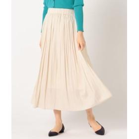 (NOLLEY'S/ノーリーズ)割繊ロング丈ギャザースカート/レディース ベージュ 送料無料