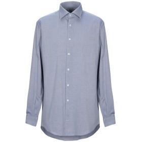 《期間限定セール開催中!》DOMENICO TAGLIENTE メンズ シャツ ダークブルー 38 コットン 100%