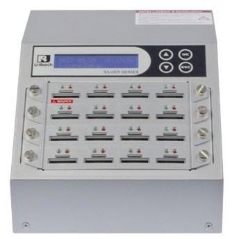 【在庫目安:お取り寄せ】U-Reach Japan 16ポート SDデュプリケータ Intelligent 9 Silver SD916S 1:15のコピーおよび最大16枚のSDカ…