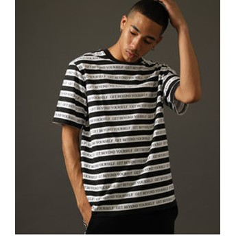 【AZUL by moussy:トップス】【MEN'S】CLUBAZUL BORDER T-SHIRT