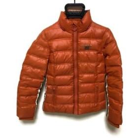 【中古】 リプレイ Replay ダウンジャケット サイズXS レディース オレンジ 白 ダークグレー