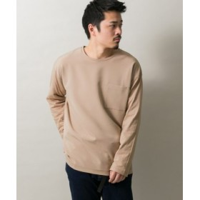 (ITEMS URBANRESEARCH/アイテムズ アーバンリサーチ)ストレッチ布帛切替Tシャツ/メンズ BEG
