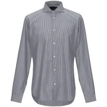 《9/20まで! 限定セール開催中》MANUEL RITZ メンズ シャツ 鉛色 41 コットン 100%
