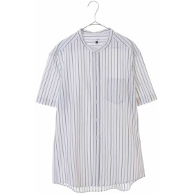 【25%OFF】 アー・ヴェ・ヴェ ストライプバンドカラーシャツ メンズ ホワイト L 【a.v.v】 【セール開催中】