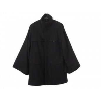 【中古】 グリーン green コート サイズ2 M レディース 黒 冬物