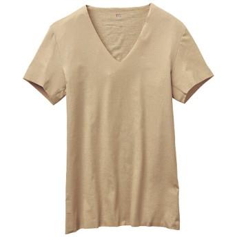 30%OFF【メンズ】 半袖Vネックシャツ(グンゼ) - セシール ■カラー:ベージュ系 ■サイズ:LL,L,M