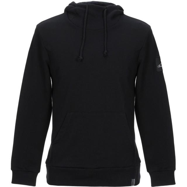 《期間限定セール開催中!》BERNA メンズ スウェットシャツ ブラック L コットン 100%