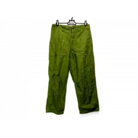 【中古】 シンゾーン Shinzone パンツ サイズ34 S レディース グリーン THE SHINZONE