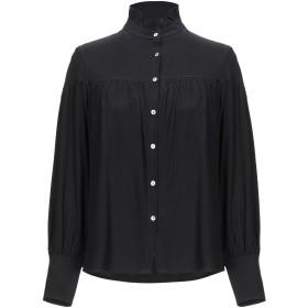 《期間限定セール開催中!》120% レディース シャツ ブラック 40 シルク 92% / ポリウレタン 8%