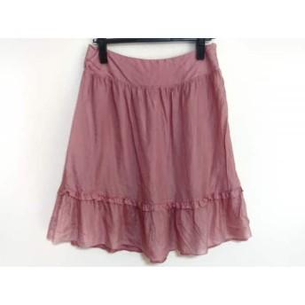 【中古】 ミュウミュウ miumiu スカート サイズ38 S レディース ピンク フリル
