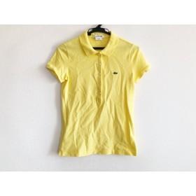 【中古】 ラコステ Lacoste 半袖ポロシャツ サイズ34 S レディース イエロー