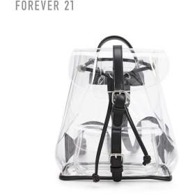 FOREVER21 フォーエバー21 【フェイクレザートリムクリアリュック】(5,000円以上購入で送料無料)