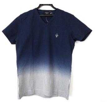 【中古】 エポカ EPOCA 半袖Tシャツ サイズ46 XL メンズ ネイビー ライトグレー