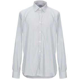《期間限定セール開催中!》AGLINI メンズ シャツ ホワイト 43 コットン 72% / ナイロン 25% / ポリウレタン 3%