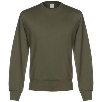 《期間限定セール開催中!》ASPESI メンズ スウェットシャツ ミリタリーグリーン L コットン 100%