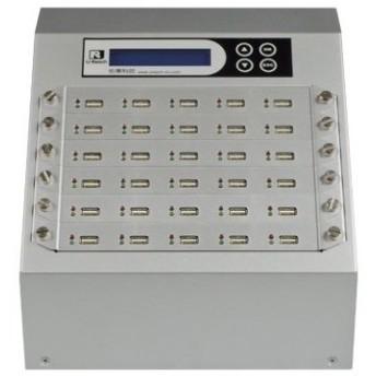 【在庫目安:お取り寄せ】U-Reach Japan 30ポート USBデュプリケータ Intelligent 9 Silver UB930S 1:29のコピーおよび最大29個のUS…