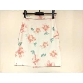 ジャスグリッティー JUSGLITTY スカート サイズ1 S レディース 美品 白×ピンク×グリーン 花柄【中古】