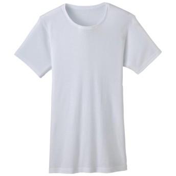 SALE PEACE FIT 極さら綿100% クルーネック半袖(メンズ) ホワイト